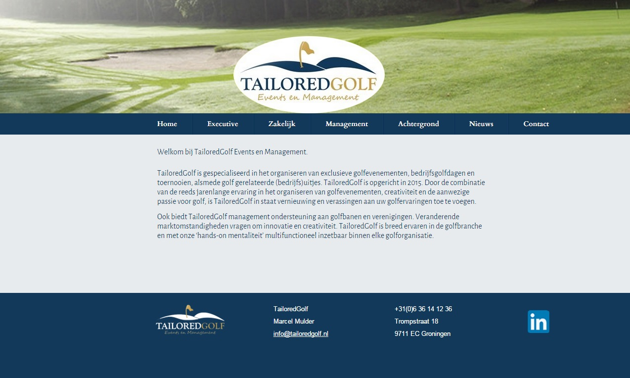 WebFactor Portfolio: Tailored Golf